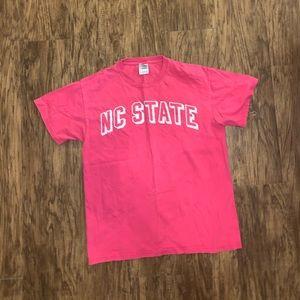 Womens NC State Pink Tee